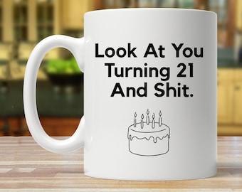 21st Birthday Gift Mug Funny 21 Years Old Twenty One Mugs Gag Gifts Year Coffee Cup