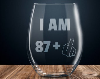 88th Birthday Gift Wine Glass Party Present Eighty Eight Years Ideas 88 Year Old