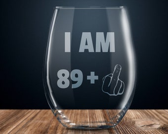 90th Birthday Gift Wine Glass Party Present Ninety Years Ideas 90 Year Old