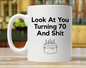 70th Birthday Gift For Seventy Year Old Ideas Mug Funny 70 Years Mugs