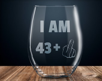 44th Birthday Gift Wine Glass Party Present Forty Four Years Gag Ideas 44 Year Old