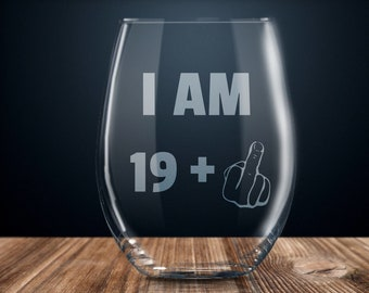 20th Birthday Gift Wine Glass Party Funny 20 Year Old Twenty Years Gag Gifts Ideas