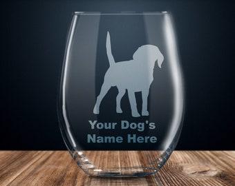 Beagle Wine Glass Etsy
