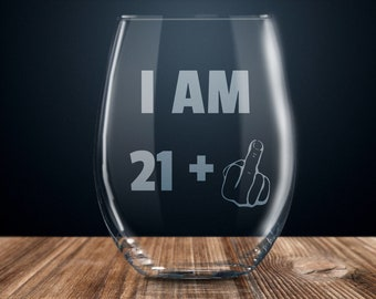 22nd Birthday Gift Wine Glass Party Funny 22 Year Old Twenty Two Years Gag Gifts Ideas