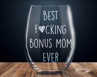 Best Stepmother Stepmom Mothers Day Gift Funny Quarantine Toilet Paper Wine Glass Birthday Present Step Mom Wine Tumbler Bonus Mom