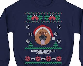 German Shepherd Christmas Sweater.German Shepherd Xmas Etsy