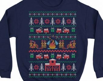 Firefighter Christmas Shirt.Firefighter Sweater Etsy