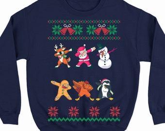 06c17049 funny dabbing sweater for women and men, Santa dabbing ugly Christmas  sweater, Santa dancing Christmas sweater, dab dance sweatshirt