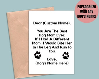 mothers day card from Dog funny mum cards doggy dogmama furbaby cheeky rude pets