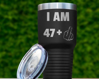 48th Birthday Gift For Men Women Funny Ideas Gifts Him Her 48 Years Old Bday Tumbler Forty Eight Present