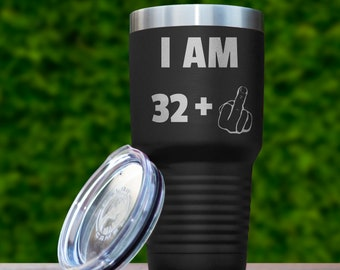 33rd Birthday Gift For Him Her 33 Years Old Funny Year Present Tumbler Travel Mug