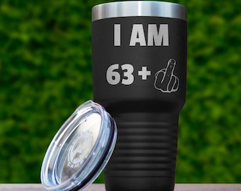 64th Birthday Gift For Men Women Funny Ideas Gifts Him Her 64 Years Old Bday Tumbler Sixty Four