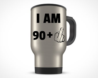 91st Birthday Gift For Women Men Travel Mug Party 91 Year Old Ideas Him Her Bday Present