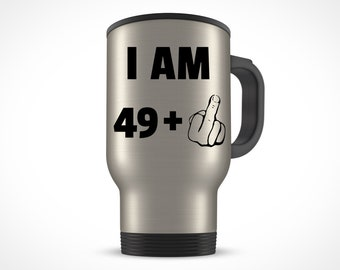 50th Birthday Gift For Women Men Travel Mug Party 50 Year Old Ideas Him Her Bday Present