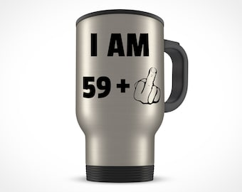 60th Birthday Gift For Women Men Travel Mug Party 60 Year Old Ideas Him Her Bday Present