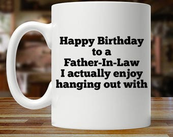 Father In Law Birthday Gift Mug Gifts For Funny