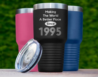 24th Birthday Gift Tumbler 24 Years Old Party 1995 Happy