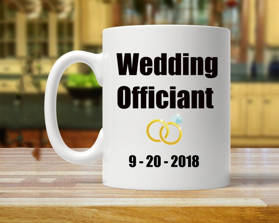 Gift For Officiant Officiant Gifts Officiant Mugs Wedding Etsy