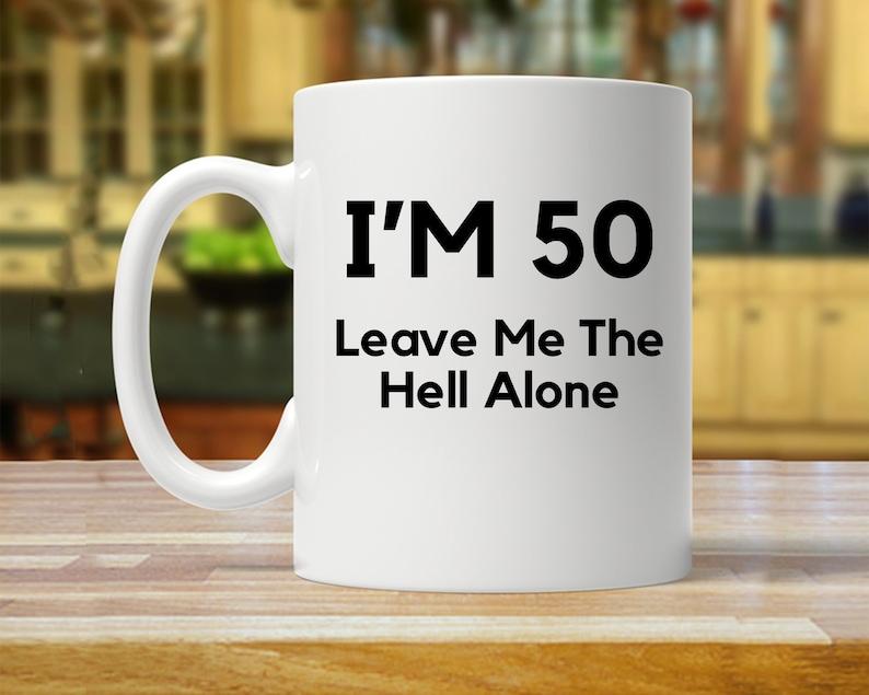 50th Birthday Mug Gift Ideas