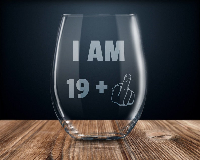 20th Birthday Gift Wine Glass