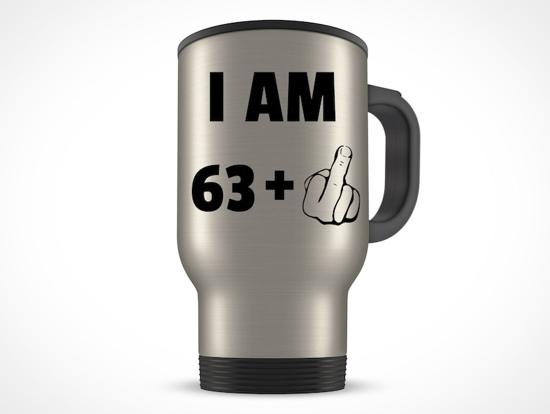 64th Birthday Gift For Women Men Travel Mug