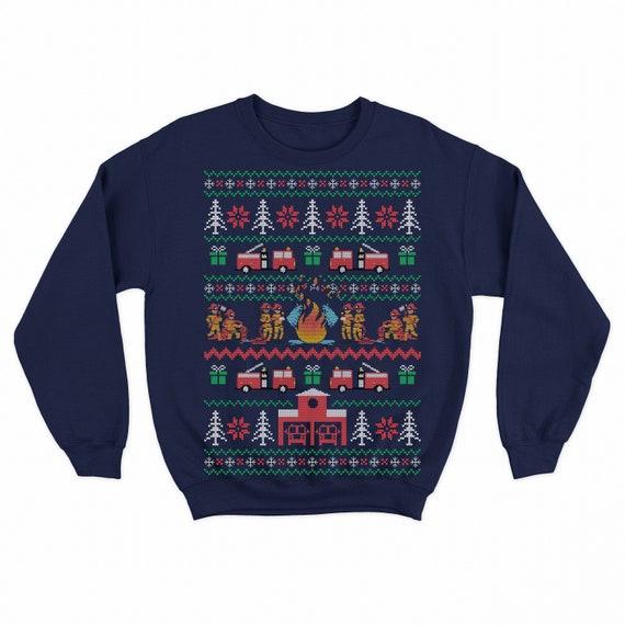 Firefighter Christmas Shirt.Firefighter Christmas Sweater Firefighter Ugly Christmas Sweater Fireman Sweatshirt Firefighter Christmas Gift Christmas Shirt Men Women