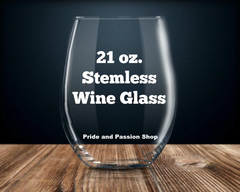 etched stemless wine glass gift for him her intern gift ideas best intern ever intern birthday present intern gift