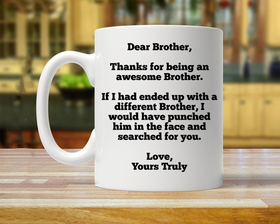 Personalized Brother Gift Ideas Funny Gift For Brother Gift Etsy