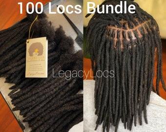 100 LOCS  Handmade Loc Extensions 100% Human Hair