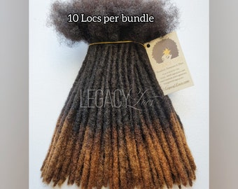 HoneyTips Dreadlock Extensions Handmade 100% Human Hair