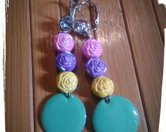 "Pastel earrings ""SUN"""