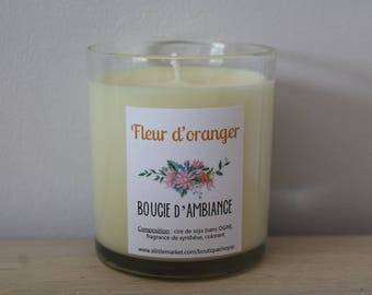 Candle of atmosphere to blossom soy wax