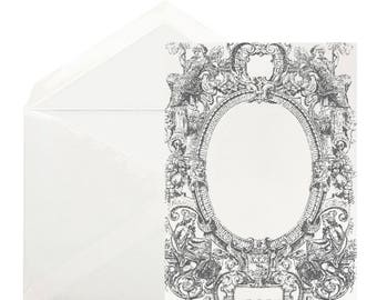 Charcoal Mirabelle Frame Stationery Box