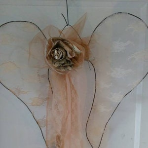 31 cm long made of antique material Angel/'s Wing-shabby