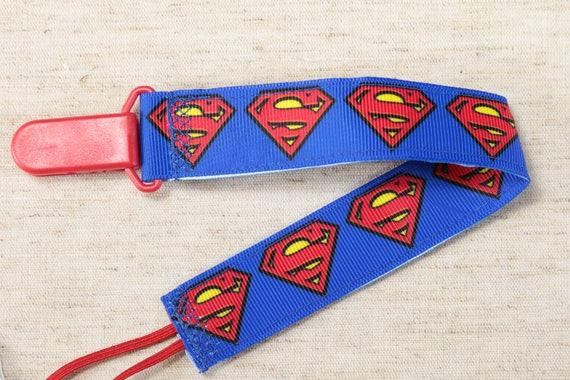 The Flash Batman Superman Superheroes Handmade Pacifier Holder DC Comics