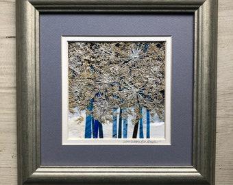 Original Botanical Art - White Queen's Blue Meadow