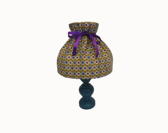 Lamp shade matching blue Bohemian