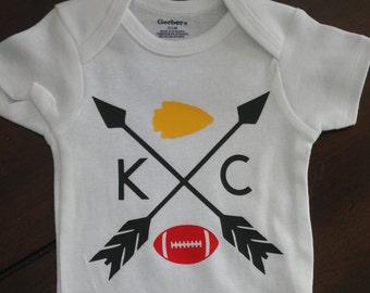 Baby Onesie - KC Football Onesie - Kansas City Baby - Baby Outfit