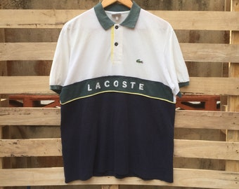 500839abc68 Vintage 90s Lacoste Polos Shirt Short Sleeve Lacoste Tshirt Men s Clothing  Lacoste Oxford Button Up Vintage Lacoste Size 5
