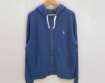 dd5252787f82 Polo Ralph Lauren Hoodie Large Jumper Pullover Sweatshirt Jacket Small Pony  Vintage 90s