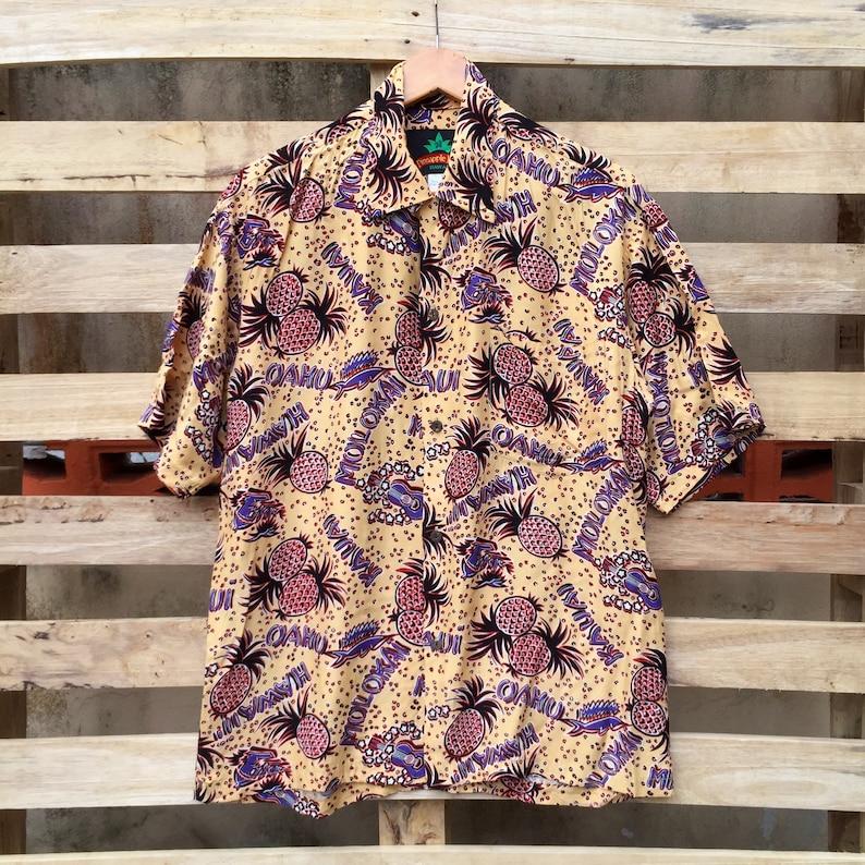 529c67338 Vintage Pineapple Juice Hawaiian Shirt Hawaiian Pineapple   Etsy