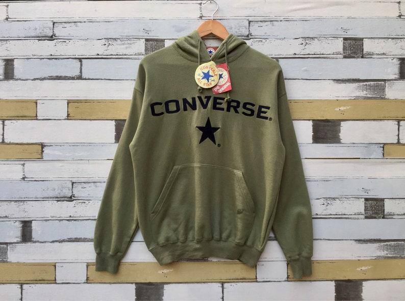 827ad1e5777 Vintage 90s Converse Hoodies Pullover Converse Sweatshirt