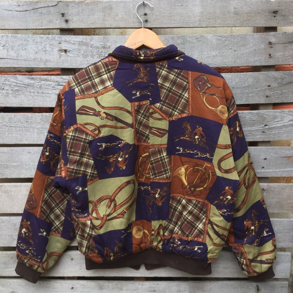 Vintage Jacket Men's 1990s Bomber Baroque Sweater Brown Vintage Reversible Rare Color Baroque Jacket Picasso dHxdFA