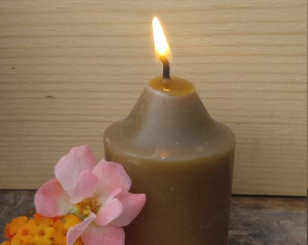Pure Beeswax 15 Hr Votives ~ Aromatherapy Candles ~ Spiritual ~ Lights ~ Meditation~ Holiday Gifts~ Festival Lighting