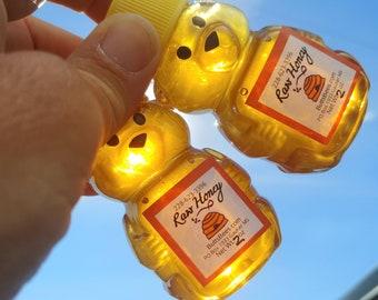 Honey, 10 Mini Honey Bears, Pure Raw Mississippi Honey, Wedding, Bridal, Baby Shower, Birthday Favors, Party Favors, Travel Size