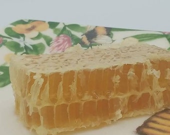 Honeycomb ~ Raw Organic Comb Honey ~ Eco Gift ~ All Natural  Raw Honeycomb  ~ Nature's Candy ~ Mississippi Made Honey ~