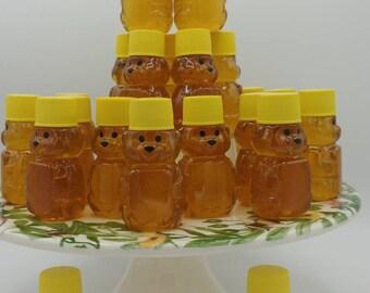 Honey, 25 Mini Honey Bears, Pure Raw Mississippi Honey, Wedding, Bridal, Baby Shower, Birthday Favors, Party Favors, Travel Size