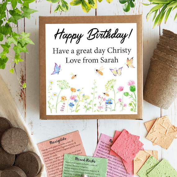 Grow Gift Delivery Service Seed Paper Pack Personalised