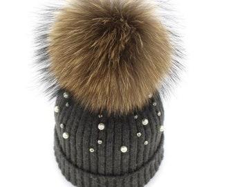 Madison Zöpfe Frauen Perle Turban Haarband, Stirnband, Haar Accessoire, Winter Mütze, Jersey, Baumwolle, Boho, Boho