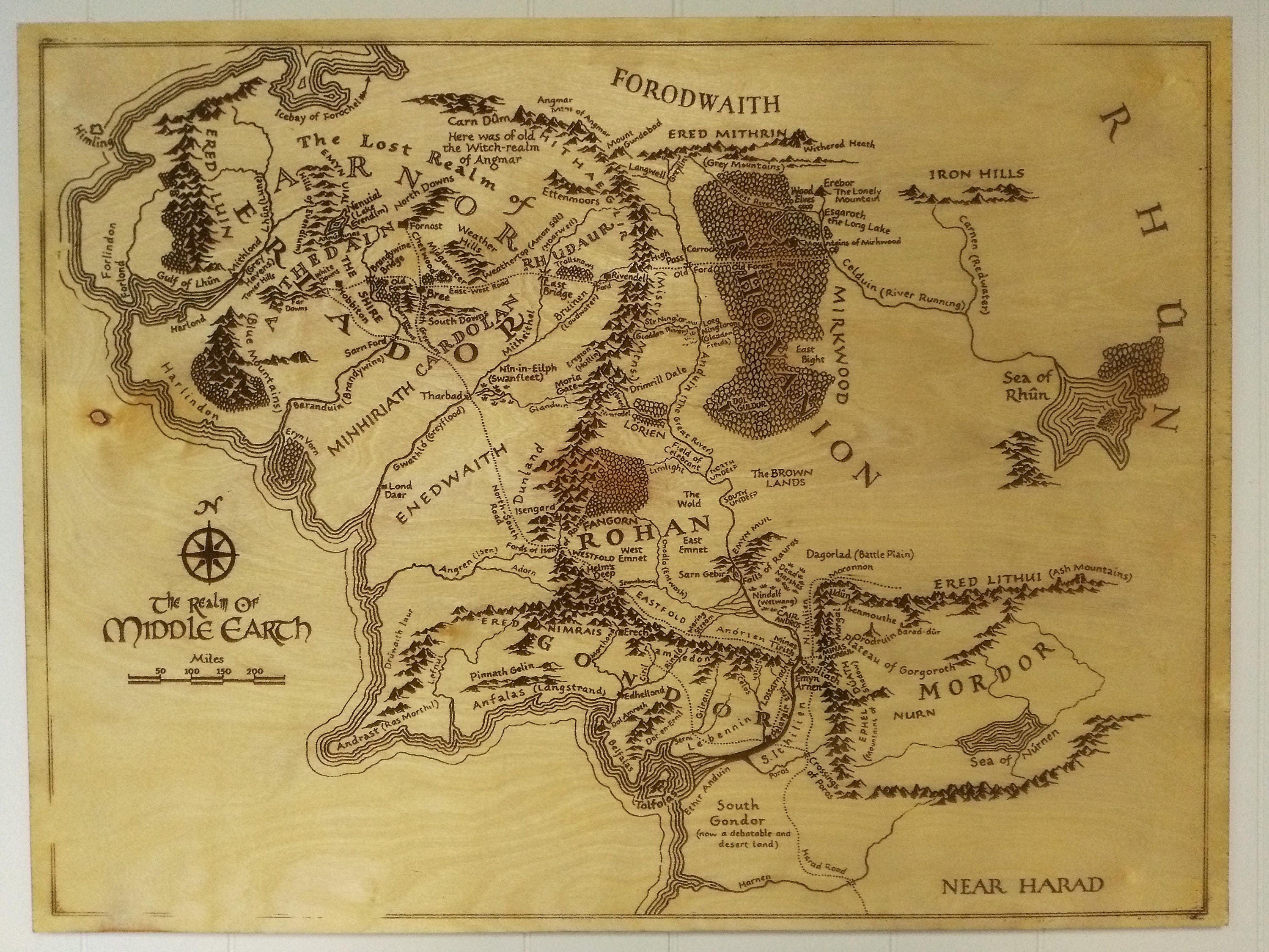 It is a photo of Amazing Printable Map of Middle Earth